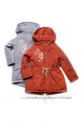 Куртка парка демисезонная для девочки Модный карапуз
