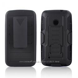 Чехол Nokia Lumia 530 бронированный противоударный. Тройная защита