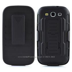 Чехол Samsung Galaxy S3 I9300 бронированный противоударный. Тройная защита