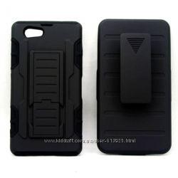 Чехол Sony Xperia Z1 Compact Z1 mini бронированный противоударный 3 в 1