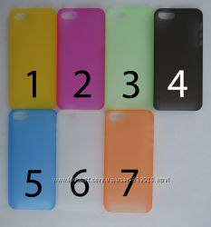Чехол iPhone 5 5s УЛЬТРАТОНКИЙ 7 цветов