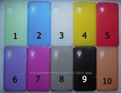 Чехол LG Google Nexus 5 УЛЬТРАТОНКИЙ 10 цветов