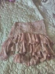 красивая шелковая юбка Naf-Naf