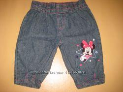 Фирменные джинсовые бриджи с Минни