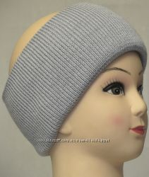 тёплая вязаная повязка на голову тепло, практично и красиво