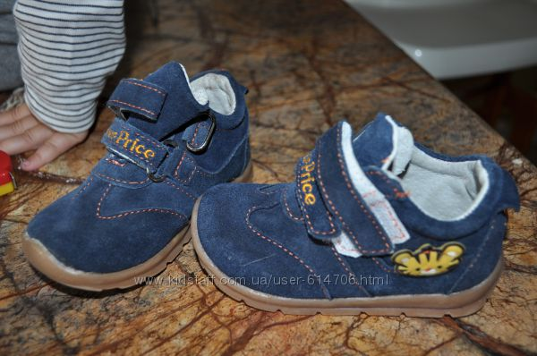 Закрытые туфли-кроссовки из натуральной замши для мальчика Fisher price 23р