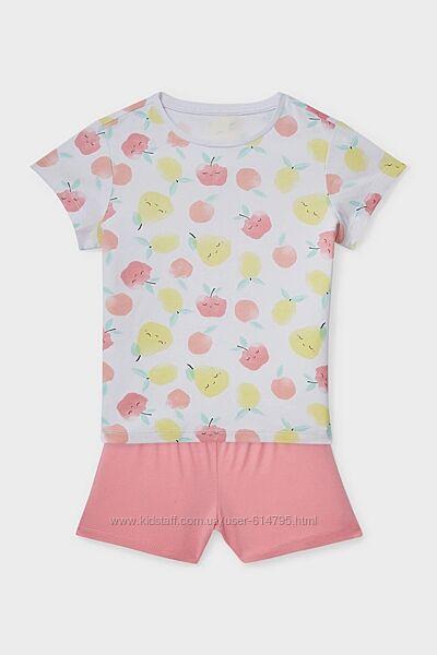 Пижама трикотажная на девочку европейского бренда C&A