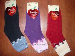 Махровые женские носки Корона
