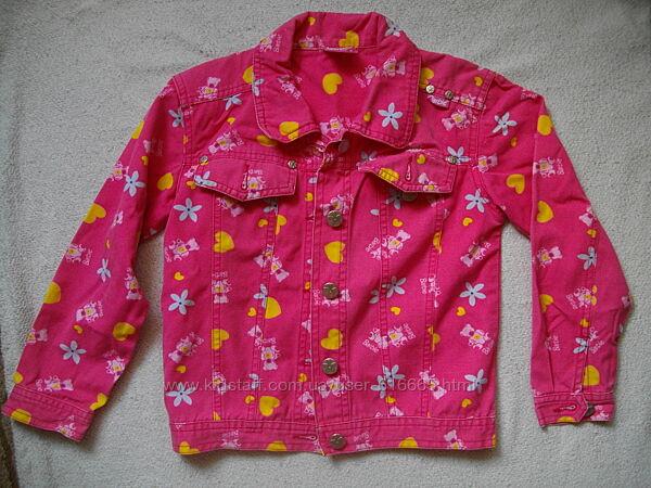 Обалденный коттоновый пиджак девочке 8-9 лет.