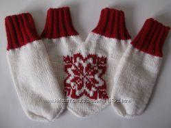 Варежки для двоих Снежинка