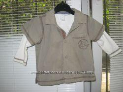 Клевая рубашечка фирмы H&M yf 4-6 мес.