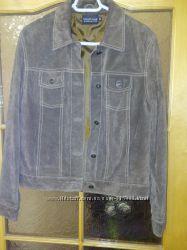 Курточка унисекс 44-46р натуральная замша отличное состояние