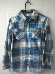 Модная рубашка в клетку F&F 12-13 лет