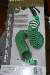 Шланг для полива спиральный Spiral Hose Set POW63852
