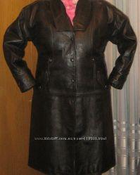 Пальто женское кожаное на сентопоне