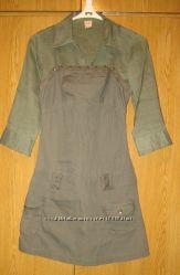 Котоновый сарафан и блуза  льянная  42-44