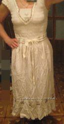 Платье -сарафан, новое. Лето. Лен. ПОГ 40-46. НОВОЕ