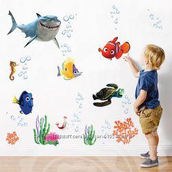Наклейки на  стены для детской и ванной комнаты не Китай