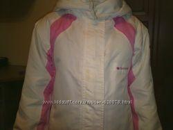 Куртка белая с розовым.