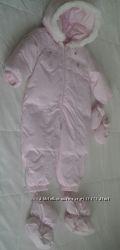 Комбинезон розовый на пуху 80см15 мес зима CHICCO