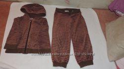 Велюровый костюм на девочку      1-1, 5 года и 3-4 года