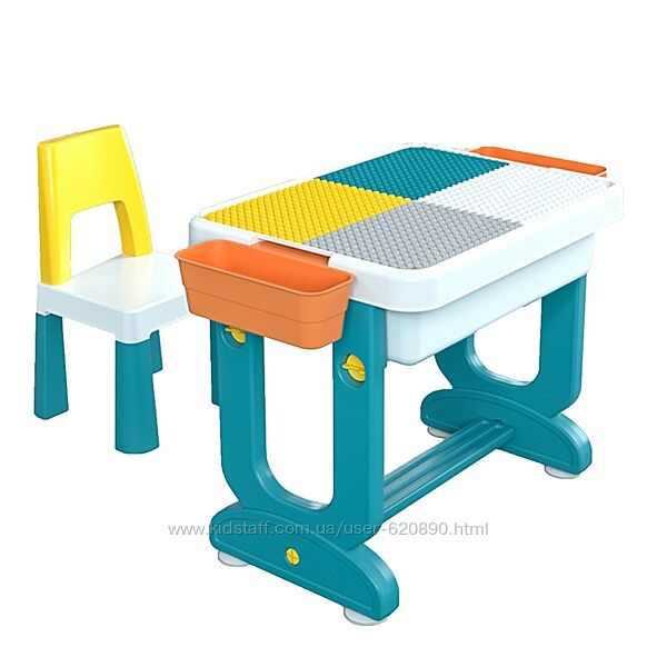 Детский многофункциональный столик TEGA ТРАНСФОРМЕР 6в1 разноцветный