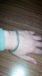 серебряный мужской браслет 925 пробы