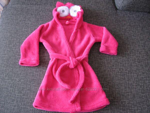 Тёплый халатик для девочки, 86см.