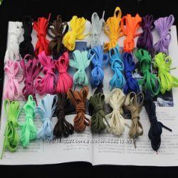 Цветные шнурки 24 цвета в наличии