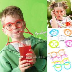 Забавная и веселая трубочка - очки для напитков