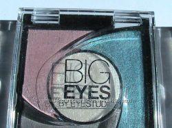 Тени для век 4-цветные компактные стойкие Big Eyes by Eyestudio Maybelline