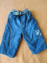 Утепленные джинсы. 3-6 мес.