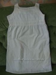 Белое платье из прошвы.