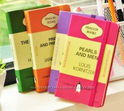 Стилизованные блокноты-книги, иллюстрированные ежедневники.