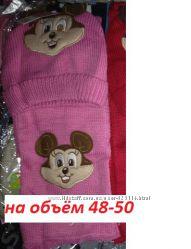 Не дорогие женские комплекты Шапка  шарф