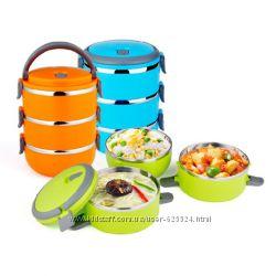 Термо ланч бокс Lunchbox Three Layers 1000602