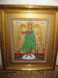 Вышивка бисером икона Св. Ангел Хранитель