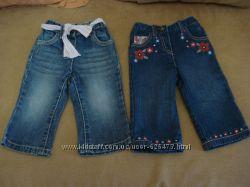Джинсы Next для девочки, утепленные джинсы, 6-9 мес