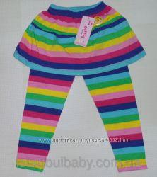 Лосины с юбкой для девочек 2 года 100 хлопок