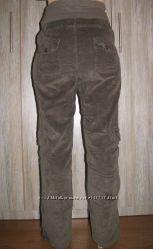 Джинсы, штаны вельветовые  для беременных  в отличном состоянии S-M