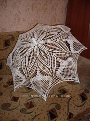 Свадебный зонт ручной работы