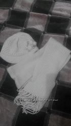 Теплий комплект - шапка і шарф  ангора