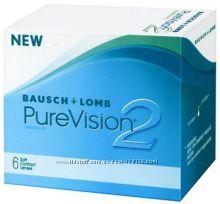 Контактные линзы PureVision2, растворы, капли