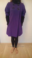 пальто женское демисезонное stella polare итальянское фиалкового цвета