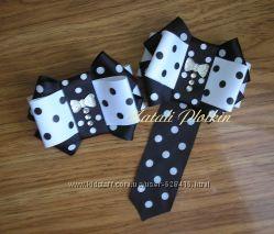 Стильные украшения, галстук-брошь, бант