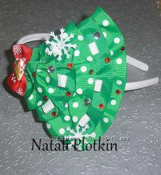 Для новогоднего наряда ободок повязка Елочка