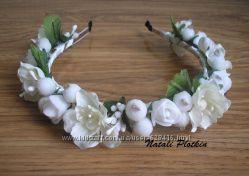 Цветочные обручи - с розами, маками, ягодами