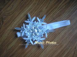 Новогодний обруч повязка заколка Снежинка 2