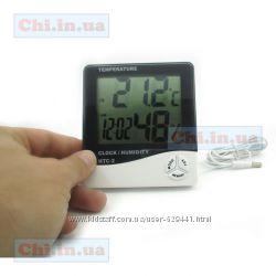 Синометр, Термометр с выносным датчиком, гигрометр, часы, будильник HTC-2