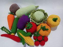 Вязаные овощи для детей